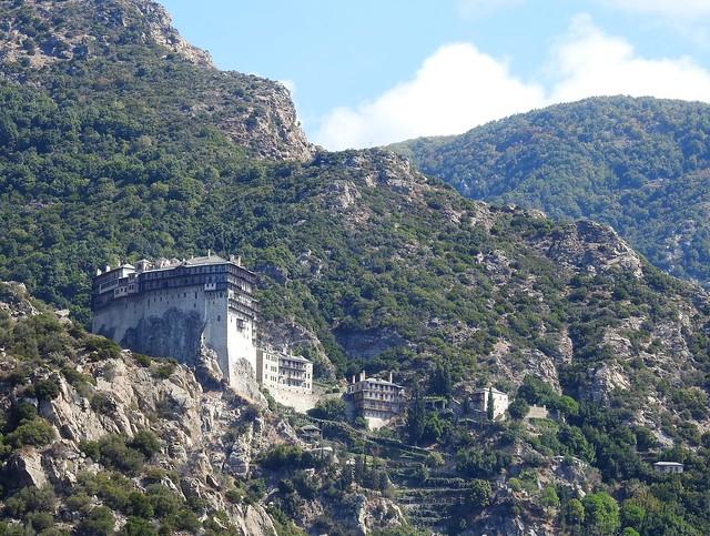 Simonos Petra Monastery - Mountainside View