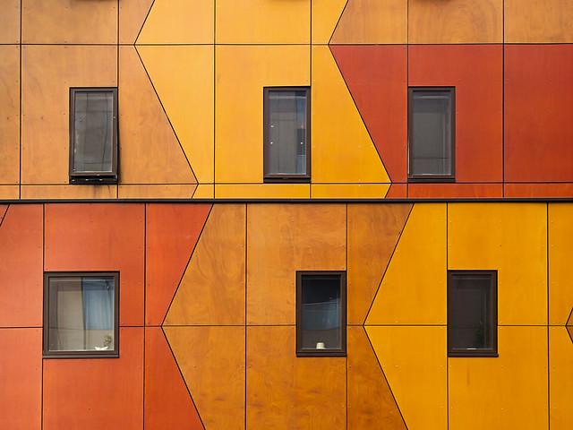 6 ventanas entre madera