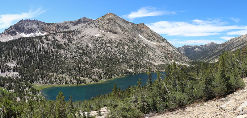 Charlotte Lake and Mount Bago from the Pacific Crest Trail