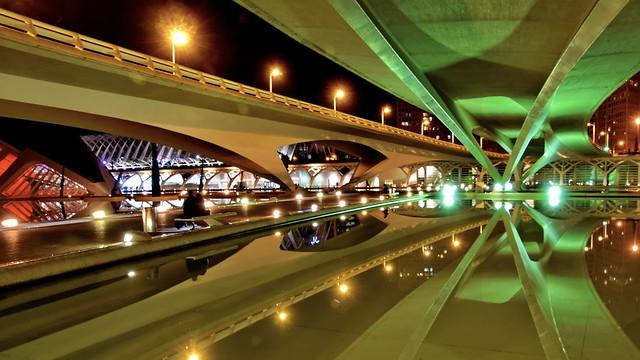 Nightlights under the bridge