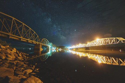 night miramichi milkyway bridge miramichiriver astrophotography newbrunswick nightsky nightphotography longexposure nb andersonbridge