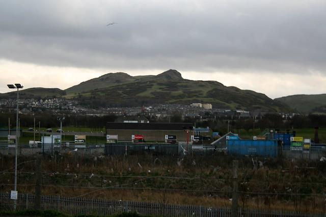Arhur's Seat from the coast near Edinburgh