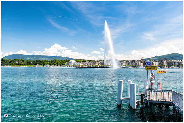 My lovely Geneva - Geneva Fountain 140mt High - Lake Léman - Switzerland - D85_0983