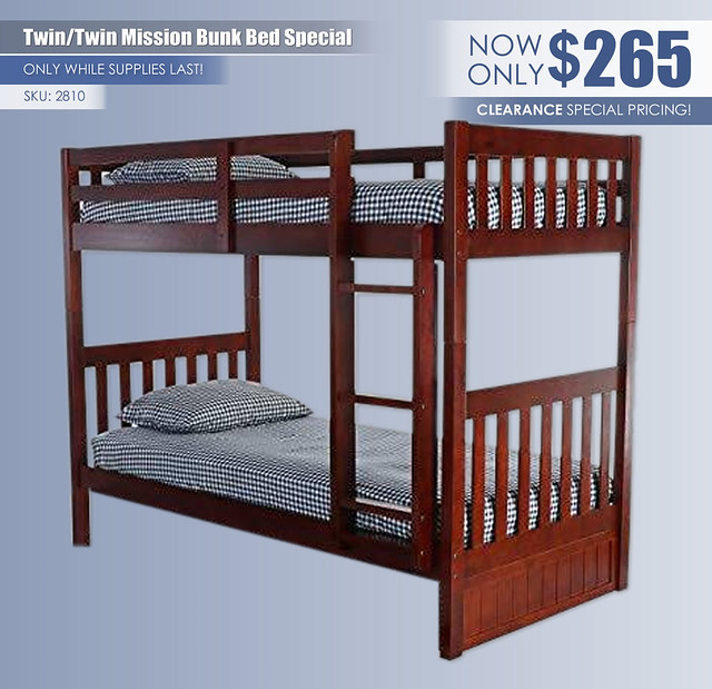 Twin Over Twin Mission Bunk Bed Special_2810