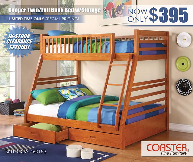 Coaster Cooper_Twin over Full Bunk Bed Special_InStockClearance_460183