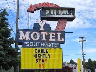 ID, Blackfoot-U.S. 91 Y Motel Sign