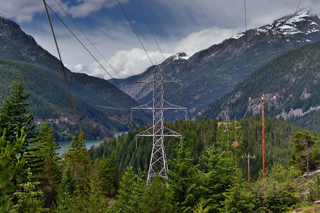 Man-Made Power and Mountains of Washington (North Cascades National Park Service Complex)