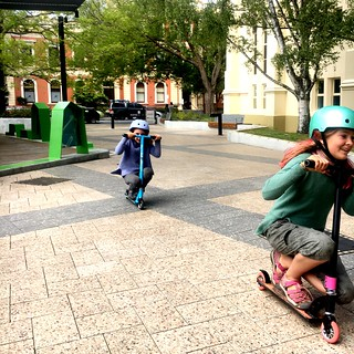 Scooter Smalls. Outside Launceston Library. | by miaow