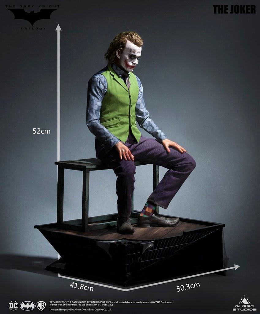 讓人感受到滿滿的惡意! Queen Studios《黑暗騎士》小丑 The Joker 1/3 比例全身雕像