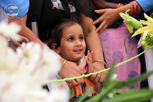Child devotee praying