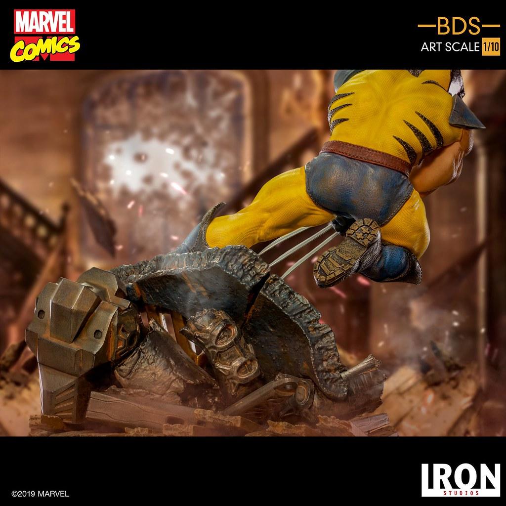 超硬派的壯碩肌肉線條再現! Iron Studios Battle Diorama 系列 Marvel Comics【金鋼狼】Wolverine 1/10 比例雕像