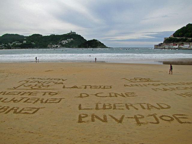 Letters in the sand