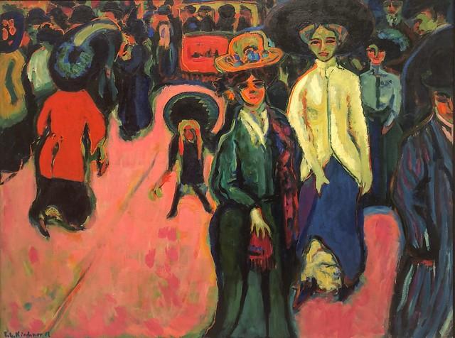 1908, Ernst Ludwig Kirchner, Street, Dresden