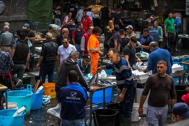 Marché aux poissons, Catania