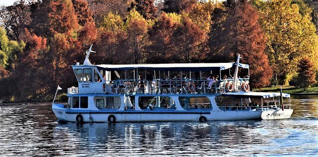 Mid-November sunny days on Herastrau lake, Bucharest (1