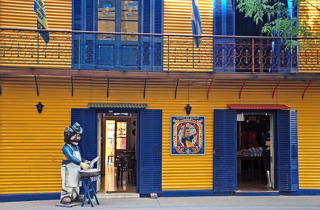 The blue & yellow of one of Argentina's favourite 'futbol' teams, the Boca Juniors, in La Boca, Buenos Aires