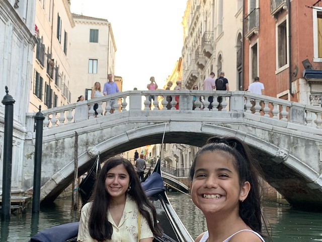 Elisa and Sofía greatly enjoying our Gondola ride