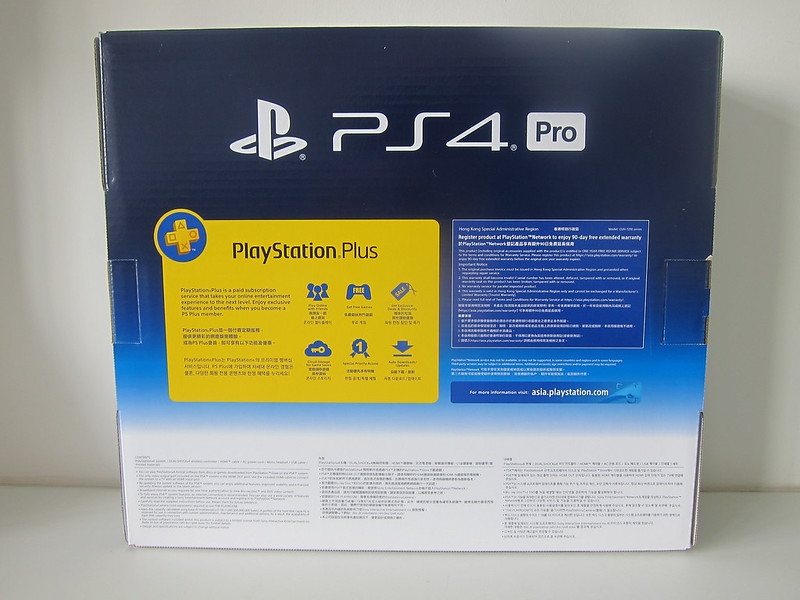 PS4 Pro - Box Back