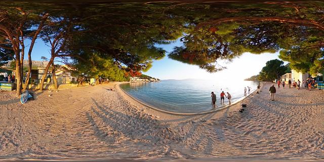 Kroatien - Makarska Riviera, Gradac Strand 360 Grad