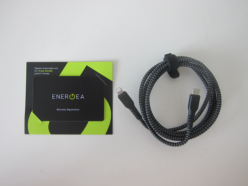 Energea FibraTough USB-C to Lightning Cable - Box Contents
