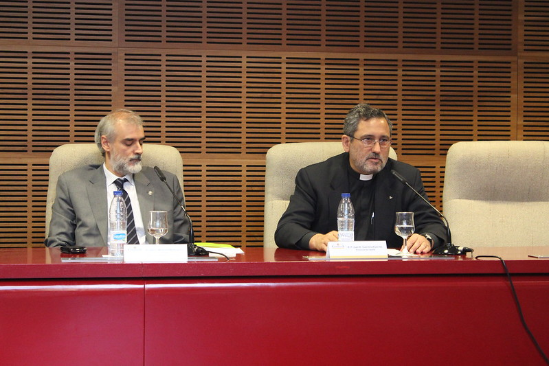 Guerrero, con el rector de Comillas