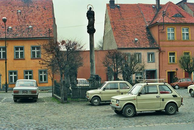 Liebenthal/Lubomierz- Platz am Rathaus, 1980-iger Jahre