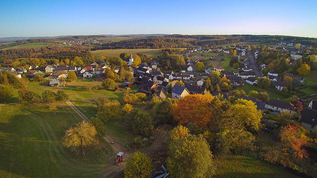Aerial autumn landscape