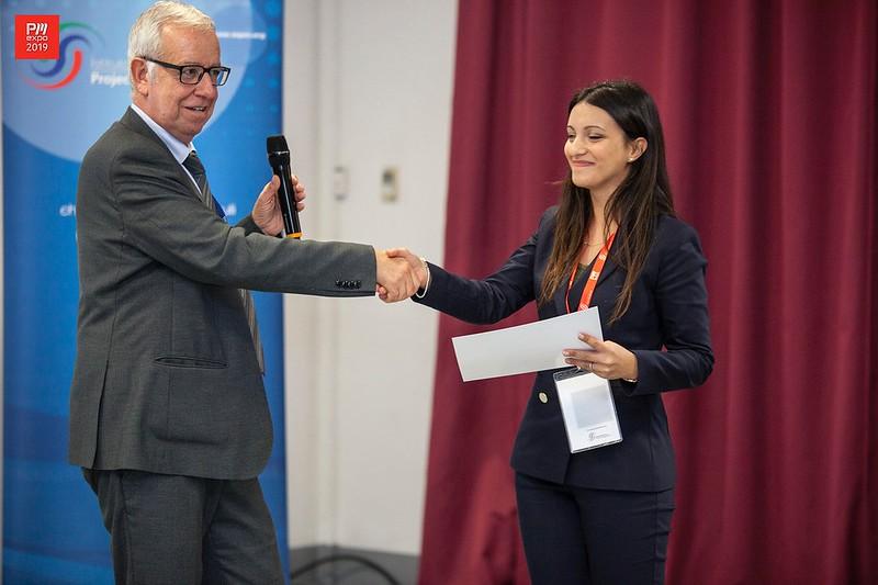 Premiazione tesi di laurea su tematiche di Project Management, Mariagrazia Modica, 2° premio ex equo