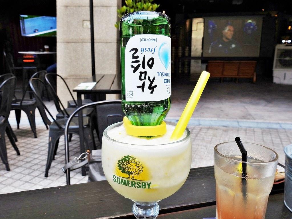 Cocktail Upside Down Soju Slushie