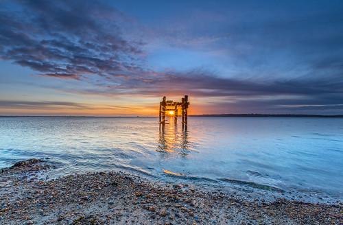 seascape lepe hampshire newforest sea solent isleofwight cloud sunrise sun