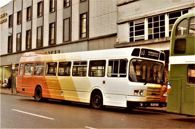 Brighton 'Shuttle' Leyland National 2 at Churchill Squasre, Brighton.