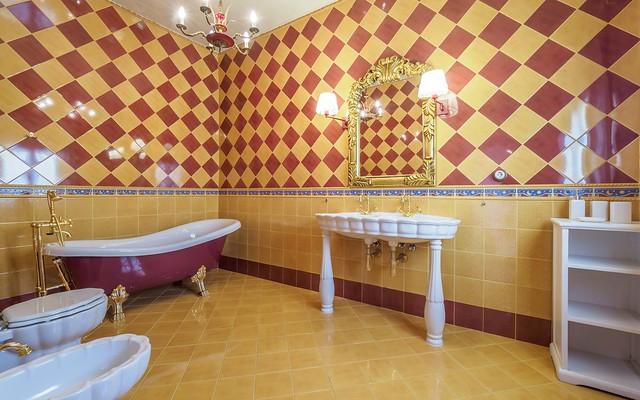 Baño habitación Romantic primer planta Masía can Trabal