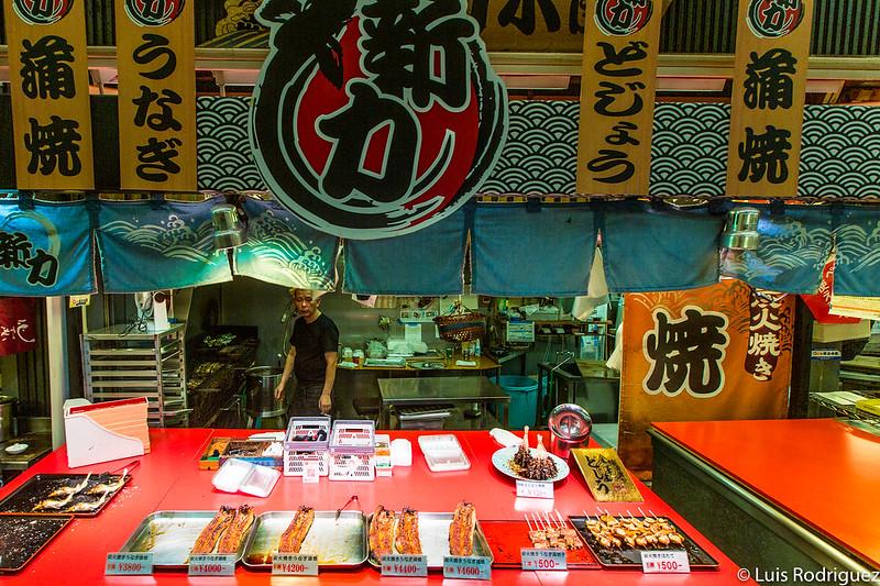Anguila en la pescadería Shinchikara