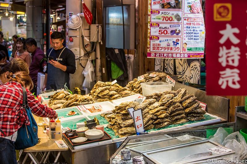 Puesto de ostras del mercado