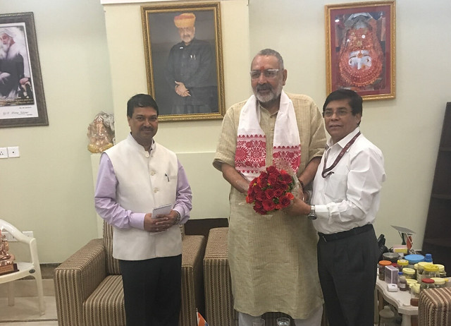 Habibar Rahman, International Livestock Research Institute (ILRI) regional representative for South Asia, met with Shri Giriraj Singh, minister of Fisheries, Animal Husbandry and Dairying, Government of India, 11 October 2019.