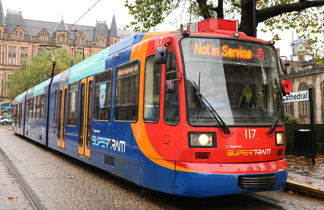 Stagecoach Supertram: 117 Cathedral