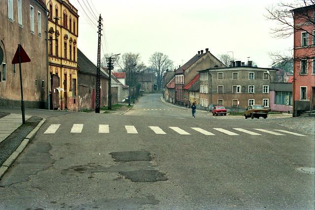 Liebenthal/Lubomierz 1980-iger Jahre; in Richtung ehemaligem Bahnhof.