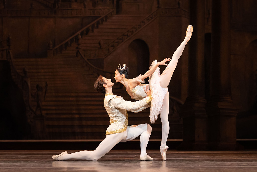 Reece Clarke as Prince Florimund and Fumi Kaneko as Princess Aurora in The Sleeping Beauty, The Royal Ballet ?2019 ROH. Photograph by Helen Maybanks
