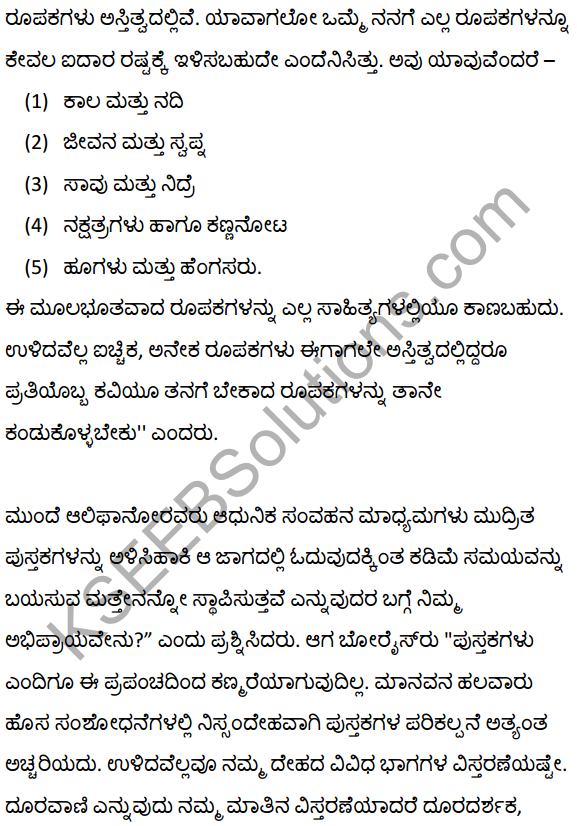Believe that Books will Never Disappear Summary in Kannada 7