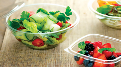 Sabert's rigid 100% rPET containers