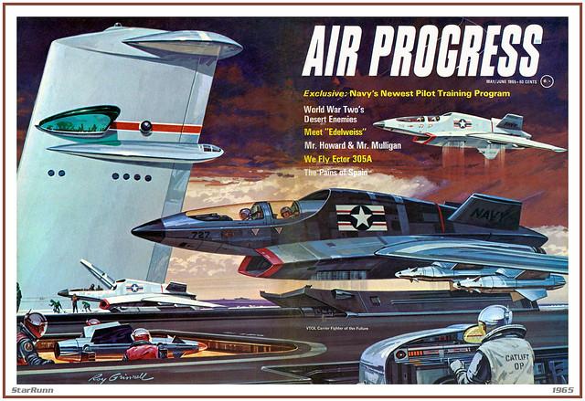 Martin VTOL Carrier Fighter - Air Progress 1965