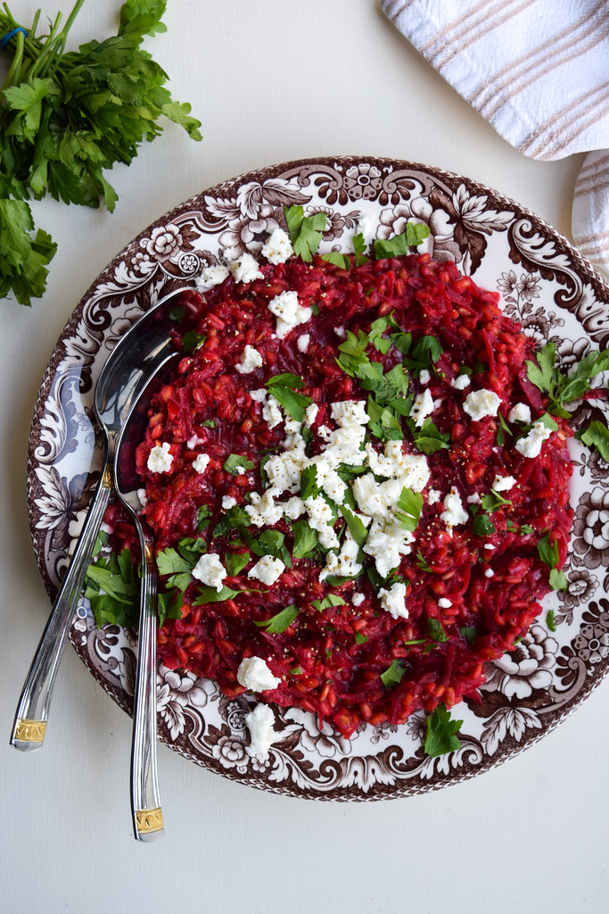 Beetroot, Feta and Spelt Risotto