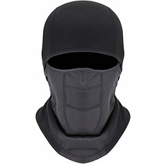 Balaclava Ski Mask - Winter Motorcycle Snowboard Face Mask Windproof with Breathable Vents for Men Women Black