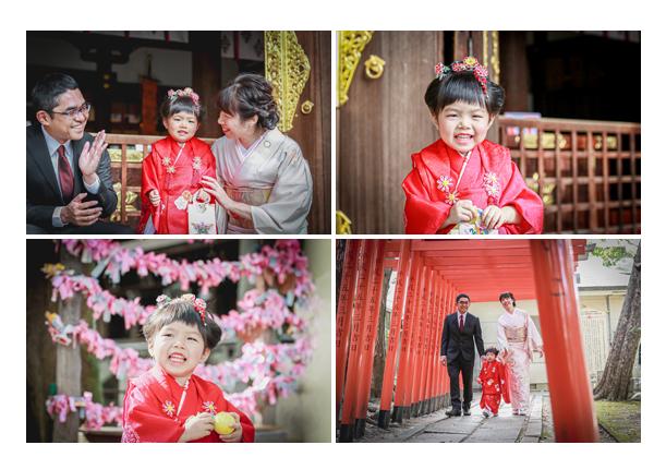 若宮八幡社(名古屋市中区)で七五三 ママの服装:着物