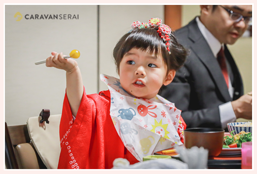 七五三参りの後のお祝いの食事会(ランチ)