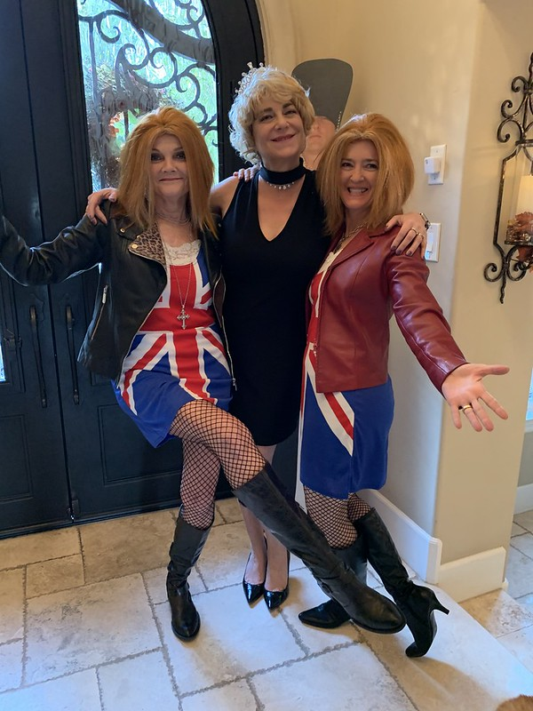 Janie, Sharon and Terra at the 2019 Fall Dinner Party