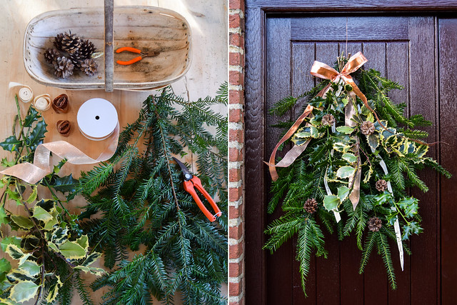 How To Make A Christmas Door Swag