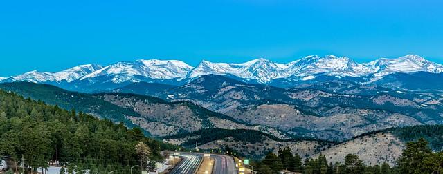 Sunrise on the mountains Evergreen Colorado