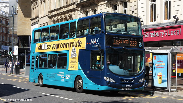 Arriva Yorkshire YJ61 OAX 1524