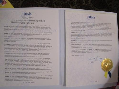 Peter Wm. Wagner Day Declaration